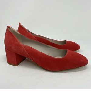Boden Hope Carnival Pink Suede shoes 10,5 us sz